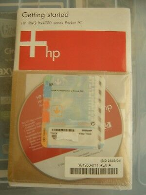 Getting Started HP iPAQ HX4700 Series User Manual and CD with Windows CE 2003