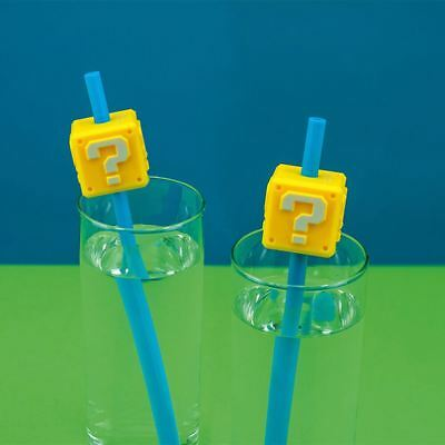Official Nintendo Super Mario Bros. Question Block Novelty Straws