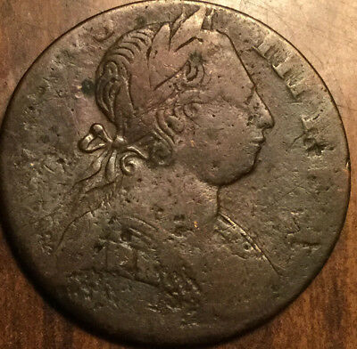 1774 UNITED KINGDOM HALFPENNY - Contemporary non-regal