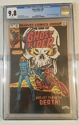 Ghost Rider #81 CGC 9.8 White pages  Death of Ghost Rider Last issue