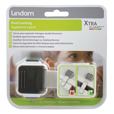 Baby Locking Appliance Latch Double Lock Ultimate Safety Lindam Xtra Guard Dual