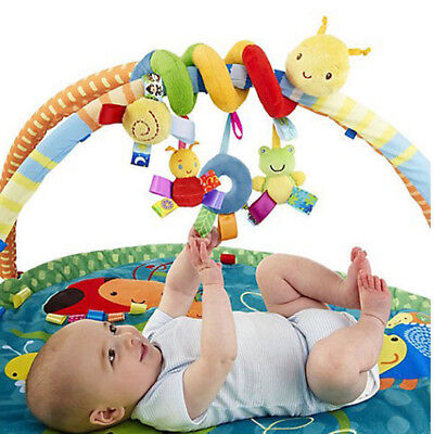 Baby Activity Spiral Stroller Car Seat Travel Lathe Hanging Toys Rattles Toy S