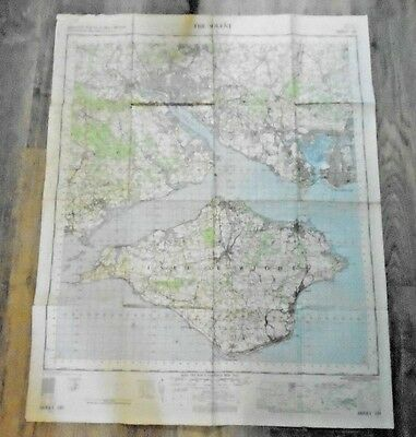 """Ordnance Survey 1"""" to 1 mile Ministry of Defence Map The Solent 1960 Sheet 180"""