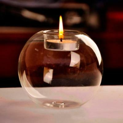 Clear Glass Sphere Ball Shaped Candle Holder Wedding Party Table Centerpiece