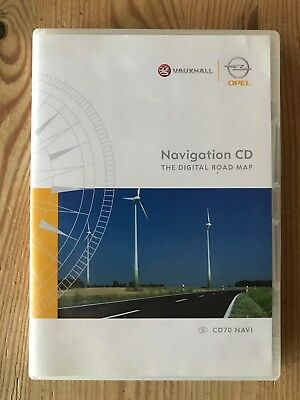 Opel CD70 NAVI, Navigation CD, The Digital Road Map, 2005, Part No. T1000-9344