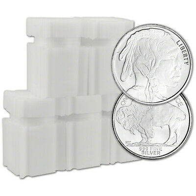 100 pc. 1/2 oz. Highland Mint Silver Round Buffalo .999  5 Rolls Tubes of 20