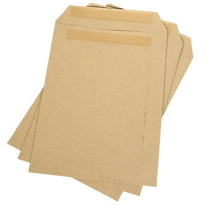 50 C5 Brown Envelopes Plain 80gsm A5 Office Self Seal Pack Craft Opaque Manilla