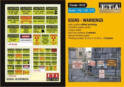 1//32 ZOMBIE Warning Signs Suit scales 1//35 1//24