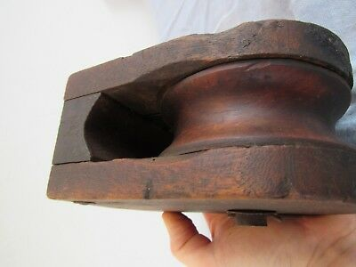 Antique Vintage Wood & Cast Iron Hay Barn Pulley Farm and Home Primitive Decor