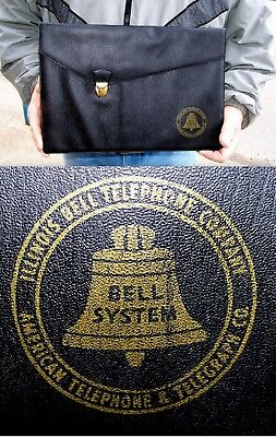 Antique Vintage Illinois At&t Bell System  Lrg Carry Business Vinyl File Follder