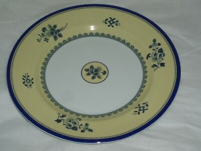 ALBANY by SPODE Made in England DINNER PLATE S3670 Yellow Blue White & ALBANY BY SPODE Made in England DINNER PLATE S3670 Yellow Blue White ...