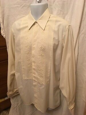 Vintage Men's Dress Shirt 1960's Large cuff links Scooter Mod Soul Northern 44""