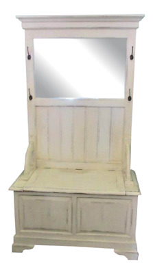 Hall Stand Shabby Chic Vintage Modern Farm Style - Great for Storage!