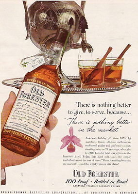 1948 Nothing Better To Give Than Old Forester Ad