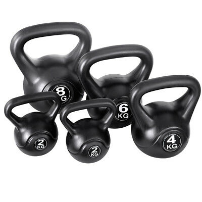 QUALITY Set of 5 Kettle Bells Fitness Exercise Kit FAST & FREE POSTAGE WARRANTY