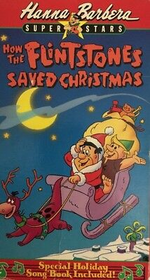 Hanna Barbera-How the Flinstones Saved Christmas(VHS,1989)TESTED-RARE-SHIP N 24H