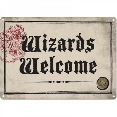 HARRY POTTER Wizards Welcome/Ministry of Magic Metal Wall Sign Collectable/Gift