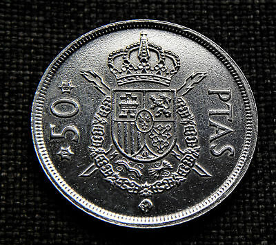 50 Pesetas Spain 1975 - polished - Gift/ Collect *TAC10