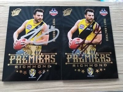 Toby Nankervis Signed Richmond Premiers Card 2017 Signed AFL Football Card 2018