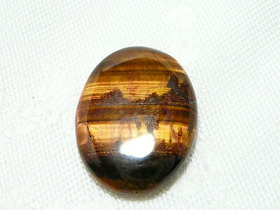 "Tiger Eye Gemstone Cabochon 2.6 X 2Cm, 4.2Gm ""new"" Auz Seller C133"