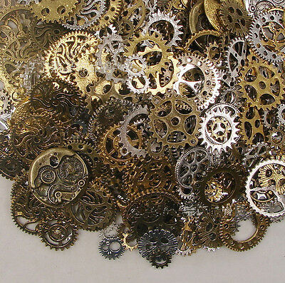 ds 50g Watch Parts STEAMPUNK CYBERPUNNK COGS GEARS DIY JEWELRY CRAFT 4y