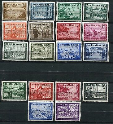 GERMANY 3rd REICH 1939-41 POSTAL EMPLOYEES FUND B148-B159 PERFECT MNH SET OF 18