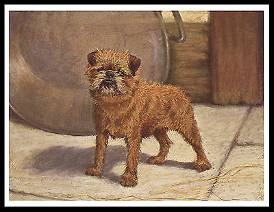 Brussels Griffon Lovely Vintage Style Dog Art Print Poster