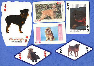 Brussels Griffon Dog Playing Swap Single Cards Great Gift When framed