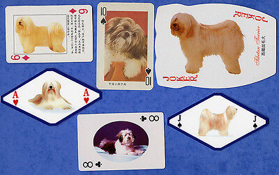 Tibetan Terrier Dog Selection Playing Swap Single Cards Great Gift When Framed