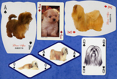 Lhasa Apso Dog Playing Swap Single Cards Great Gift When framed