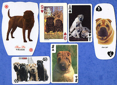 Shar Pei Dog Selection Playing Swap Single Cards Great Gift When Framed