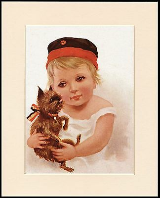 Brussels Griffon Little Belgian Girl Lovely Dog Print Mounted Ready To Frame