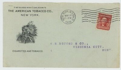 Mr Fancy Cancel 2c ILLUSTRATED AD COVER AMERICAN TOBACCO CO SHOWING INDAIN CHIEF