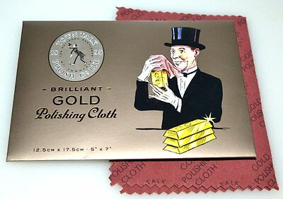 "Town Talk Gold Jewellery Cleaning & Polishing Cloth, 5""X7"" Stocking Fillers Gift"