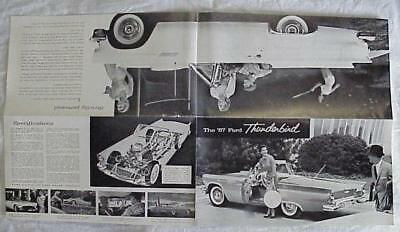1957 Ford Thunderbird fold out sales brochure.