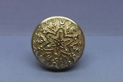 "Antique Vintage Solid Brass Victorian Door Knob - Decorative - 2 1/4"" - Restored"