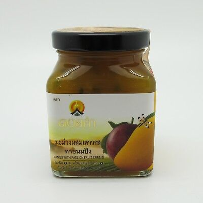 Fruit jam mango passion spread jelly preserves bread dip bakery topping canning
