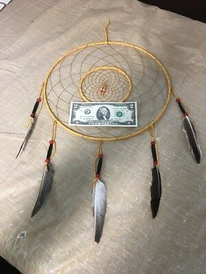"Navajo Native American Dreamcatcher Huge 12"" Diameter Ring Dream Catcher Wow #C"