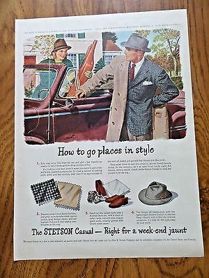 1946 Stetson Hats Ad How to Go Places in Style
