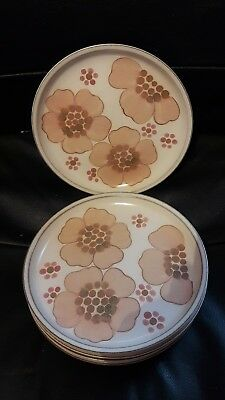 Denby pottery, salad plates, gypsy pattern replacement piece