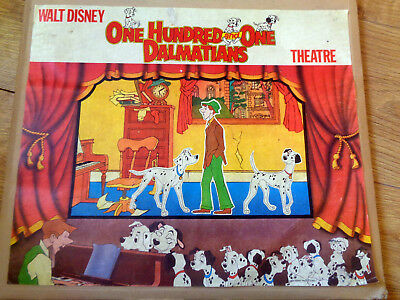 Vintage WALT DISNEY One Hundred and One Dalmatians Card Paper Dolls Theatre Toy