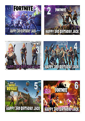 Fortnite  A4 Iced / Icing Cake Topper Edible