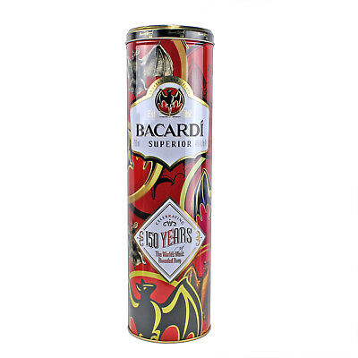BACARDI Superior Rum | Collectible TIN Only | Limited Edition 2012 | BATS