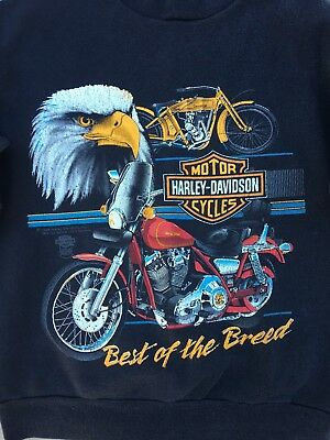 Vintage 80's Harley Davidson Best Of The Breed Eagle Sweatshirt shirt USA