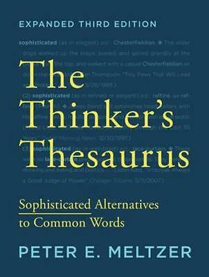 NEW The Thinker's Thesaurus By Peter E. Meltzer Paperback Free Shipping