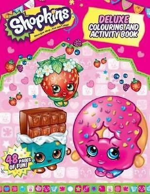 NEW Shopkins Deluxe Colouring and Activity Book Paperback Free Shipping