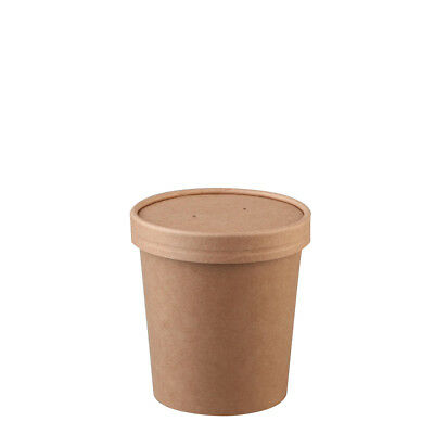 25x Soup Cup with Lid 16oz / 473mL BetaKraft Disposable Hot Food Container NEW