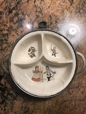 Excello USA Cats Baby Warming Feeding Dish Bowl Vintage Very Cute