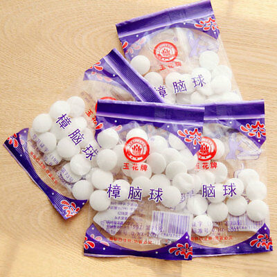 Round Camphor Anti Moth Balls Aromatherapy Room Car Protection Home Repellent