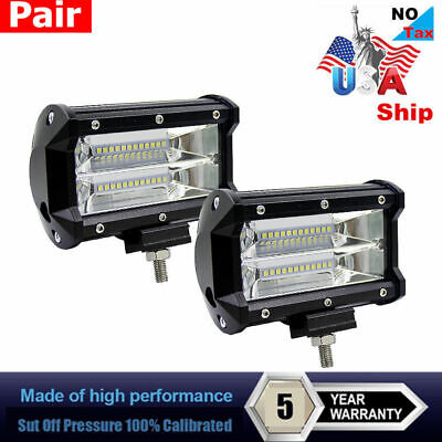 672W 5Inch LED Combo Work Light Spotlight Off-road Driving Fog Lamp Truck Boat
